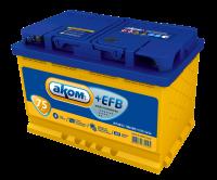 Аккумулятор АКОМ +EFB 75 А EN 720A R+