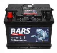 Аккумулятор Bars Silver 55 А EN 480A R+