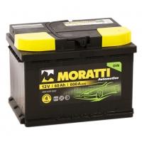 Аккумулятор Moratti 60 А EN 600A R+ LB2