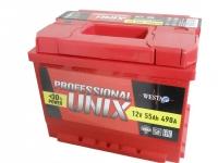 Аккумулятор UNIX PROFESSIONAL 55 А EN 490A R+
