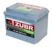 Аккумулятор ZUBR Premium 63 A EN 550 A R+