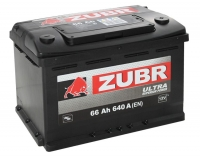 Аккумулятор ZUBR Ultra 66 A EN 640 A R+